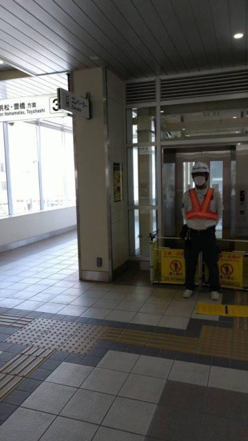 袋井駅 エスカレーター点検 エレベーターの点検